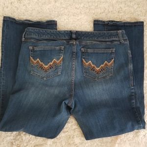 torrid Jeans - Torrid Embroidered Pocket Boot Cut Denim Jean